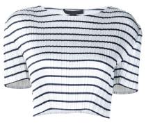 - Gestreiftes Cropped-T-Shirt - women - Polyester