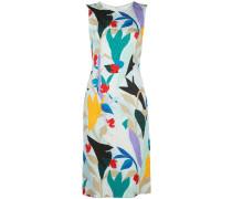 Ärmelloses Kleid mit Blumen-Print