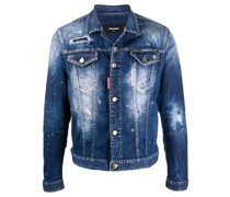 Jeansjacke im Distressed-Look