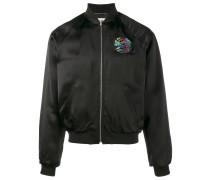 shark embroidered bomber jacket