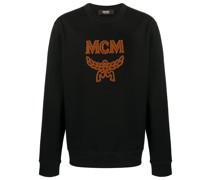 Sweatshirt mit Shearling-Logo