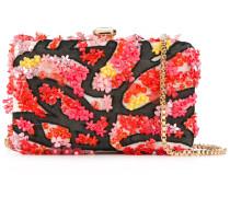 floral applique clutch - women