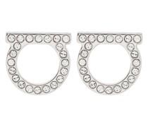 Silberfarbene 'Gancini' Ohrringe mit Kristallen