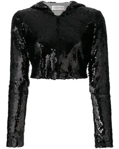 Cropped-Jacke mit Pailletten
