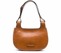logo-patch leather shoulder bag