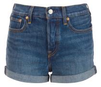 Jeansshorts mit hohem Bund