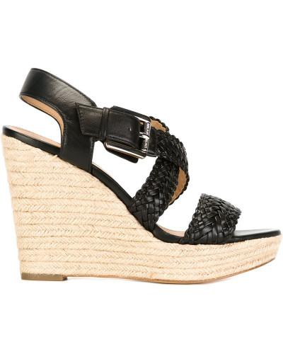 michael kors damen plateau sandalen mit kn chelriemen. Black Bedroom Furniture Sets. Home Design Ideas