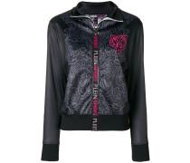 graphic print sweat jacket