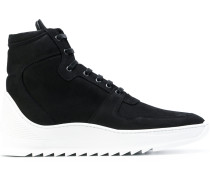 High-Top-Sneakers mit Kontrastferse