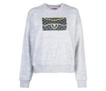 Sweatshirt mit Clutch-Print