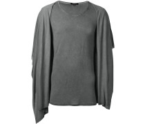 Drapiertes T-Shirt mit Kapuze - men - Viskose