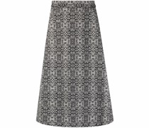 knit pattern A-line skirt