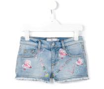 'Kiss Roses' Jeans-Shorts