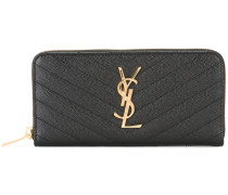 Monogram zip around wallet - women - Kalbsleder