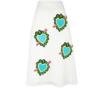 - 'Heart' Midirock - women - Polyester - 8