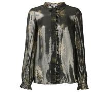 Hemd im Metallic-Look