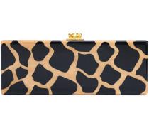 Rechteckige Clutch mit Leopardenmuster