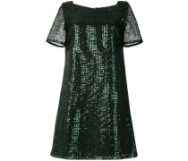 square-neck sequin dress