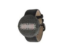 'Clou' Armbanduhr mit schwarzen Diamanten