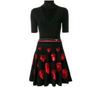 'Milla' Kleid mit Herz-Applikationen