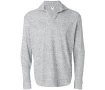 open collar sweatshirt