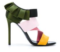 Sandalen mit Rüschenborte