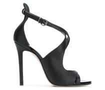 Stiletto-Sandalen mit überkreuzten Riemen