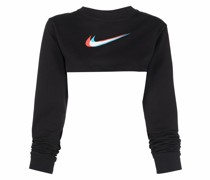Cropped-Top mit Swoosh-Print