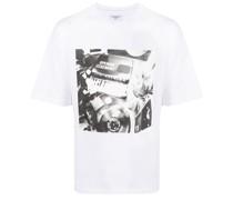 T-Shirt mit Piano-Print