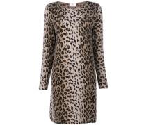 animal print knit dress