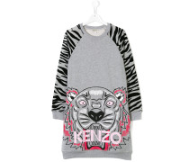 Tiger logo print sweatshirt dress
