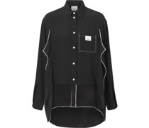 Oversized-Hemd mit Paspeln