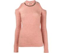 Pullover mit verziertem Ausschnitt
