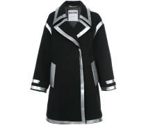 Mantel mit Metallic-Rändern