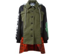 layered patchwork coat