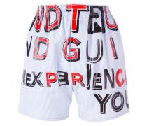 Shorts mit Slogan-Print - women - Baumwolle - 40