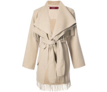 fringed robe coat