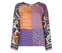 patchwork patterned blouse