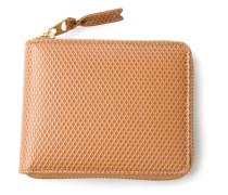 Texturiertes Portemonnaie mit Reißverschluss