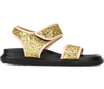 Sandalen mit Glitzerapplikationen