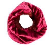 Runder Schal mit Samt-Einsatz