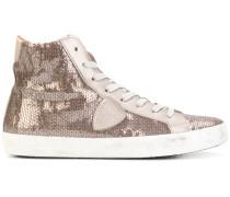 High-Top-Sneakers mit Paillettenstickerei