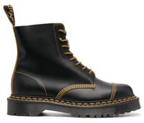 Stiefel mit Kontrastdetails