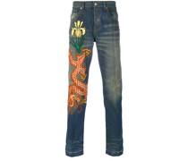 Jeans mit Drachen-Patch