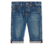 Baby washed denim jeans