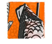 Tuch mit Fische-Print - women - Seide/Modal