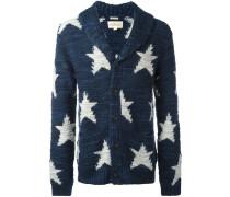 Intarsien-Cardigan mit Sternen