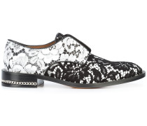 lace embroidered brogues