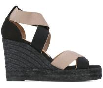 - Wedge-Sandalen mit gekreuzten Riemen - women