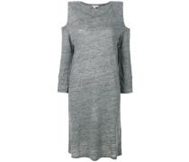 bias cut cold shoulder dress